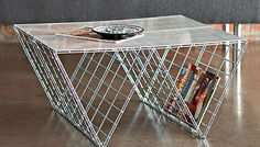 Wire Coffee Table - http://www.differentdesign.it/2014/01/17/wire-coffee-table/