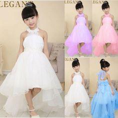 Elegantes 2016 Vestidos de Casamentos Aniversário Masquerade Bola Vestidos Da Menina de Flor para Crianças de Salão Princesa Arrastando Vestido de Festa de Verão