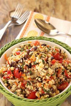 Southwest Cauliflower Rice Confetti Salad Craving Something Healthy
