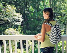 DIY backpack with just one yard of fabric!