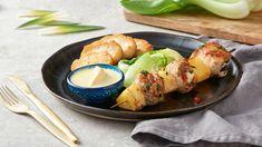 Špíz s morčacím mäsom, ananásom a balkánskym syrom
