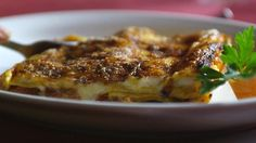 Lasagne Marche-style (vincisgrassi) praised so much by Silvia. Made in italy by silvia colloca Lasagne Dish, Stuffed Mushrooms, Stuffed Peppers, Wild Mushrooms, Dough Ingredients, Types Of Cheese, Pasta Machine, Chicken Livers, Homemade Pasta