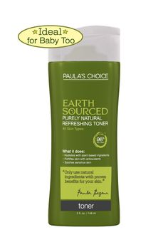Paula's Choice Earth Sourced Purely Natural Refreshing Toner~ I use this every night and love it! I love that I can use it on my baby girl too!