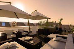 Pergola For Small Patio Code: 3508585208 Roof Terrace Design, Rooftop Terrace, Terrace Garden, Rooftop Gardens, Cheap Pergola, Diy Pergola, Pergola Kits, Diy Terrasse, Pergola Curtains