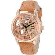 Akribos XXIV Women's AKR431RG Diamond Rose Gold Swiss Quartz Floating Watch