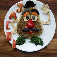 This Mom Gets Her Son To Eat His Veggies By Transforming His Meals Into Character Art  Mr. Potato Head!