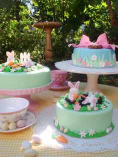 butter hearts sugar: Cute Easter Cakes and good step-by-step carrot cake recipe