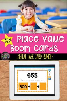 Digital, self-checking 2nd grade place value activities! These grade 2 digital math task cards cover key place value math concepts taught in second grade! Currently includes eight Boom Card™ decks. Ideal for math centers, math warm-ups, homework, distance learning assignments, quick assessments, distance learning, and more! Place Value Activities, Teaching Second Grade, Math Task Cards, Teaching Phonics, 2nd Grade Classroom, Math Concepts, Place Values, Elementary Math, Grade 2