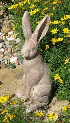 Bunny Garden Statues   My Garden   Pinterest   Garden statues, Bunny ...