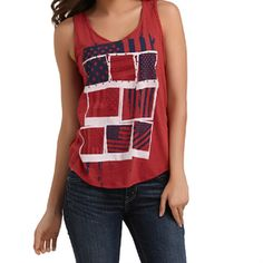 4th of July fashion: American Flag Graphic Tank Top, Route 66, $13