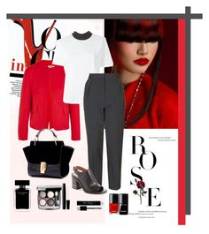 """""""Red touch"""" by fabiana-fellini ❤ liked on Polyvore featuring Jil Sander, Marni, Topshop, Givenchy, Narciso Rodriguez, Christian Dior and Chanel"""