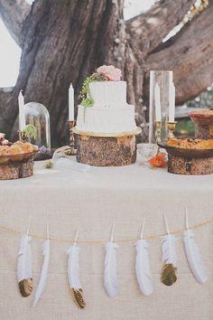 Colorful Bohemian Big Sur Wedding Decor