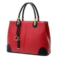 Gorąca sprzedaż mody trendu vintage charm kontrast kolorów pu leather kobiety torba, Skórzana torebka/torba na ramię wlhb944
