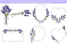Check out Lavender Flower Frame and Clipart by Dora Katona on Creative Market