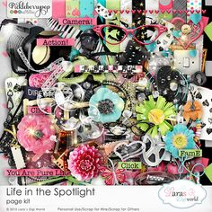 Life in the Spotlight Page Kit By Lara's Digi World