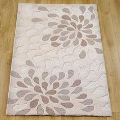 """Natural Bloom Spray Rug from Dunelm Mills. Large 150cm x 240cm (59"""" x 94"""")"""