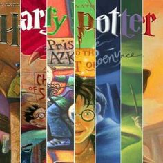 Harry Potter book cover collage