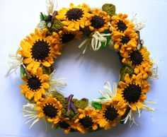 sunflower wreath www.jej-art-terapia.blogspot.com