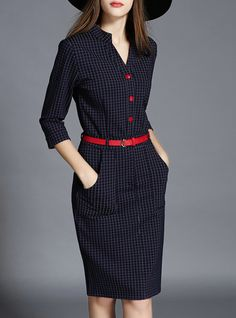 Paneled midi dress..so cute