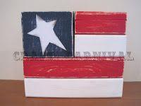 Flag stacker blocks.