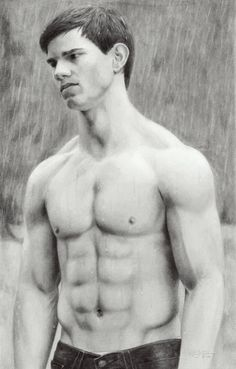 twilight saga drawing   His abs look great even in drawings!!