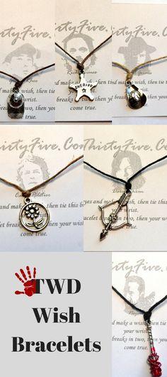 TRENDING: TWD Wish Bracelet Rick Carl Michonne Glenn Negan Daryl Carol Hershel Charm Wish Bracelet The Walking Dead Wish Bracelet Trending Jewelry #ad #etsy #twd #bracelet #jewelry