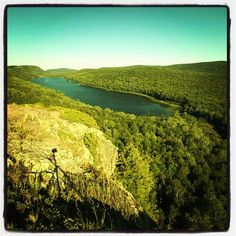 Lake of the Clouds in the Porcupine Mountains Wilderness State Park