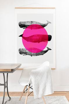 Buy Art Print And Hanger with Whales Pink designed by Elisabeth Fredriksson. One of many amazing home décor accessories items available at Deny Designs. Dorm Room Art, Whale Art, Pink Design, Kitchen Art, Whales, Home Decor Accessories, Online Art Gallery, Artsy Fartsy, Hanger
