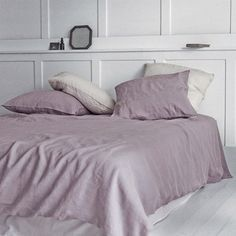 Dusty Rose Washed Linen Duvet Cover 220x240