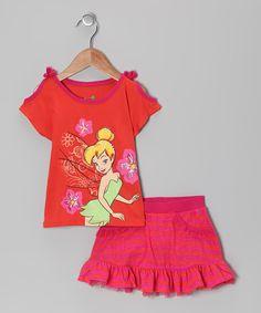 Love this Orange & Fuchsia Tinker Bell Tee & Skirt - Toddler by Disney on #zulily! #zulilyfinds. $14.99