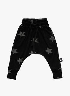 Nununu Star Baggy Pants in Black - NU0714