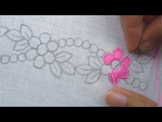 hand embroidery stitches tutorial step by step Hand Embroidery Videos, Embroidery Stitches Tutorial, Hand Work Embroidery, Embroidery Flowers Pattern, Learn Embroidery, Hand Embroidery Designs, Embroidery Techniques, Embroidery Kits, Ribbon Embroidery
