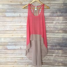 Selling this High Low sheer tank top in my Poshmark closet! My username is: thenakedboho. #shopmycloset #poshmark #fashion #shopping #style #forsale #Tops