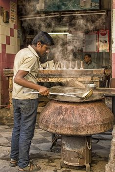 Preparation of Mutton Paaya, India   - Explore the World with Travel Nerd Nici, one Country at a Time. http://TravelNerdNici.com