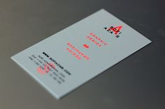 Personal branding & Business Cards printed in 2 colors risography / black & fluorescent orange Sofi Azaïs