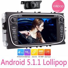 7010B Android 5.1.1 Double 2 Din Car DVD gps Multimedia Player for FORD FOCUS MONDEO WIFI Radio GPS navigation for ford focus  #Affiliate