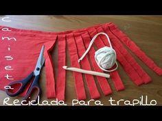 recycler tee-shirt et faire une bobine de trapillo - YouTube