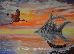 "Mario Lorenz / artist on Instagram: ""Mario Lorenz alias MaLo Magic Blue FLYING TOWARDS FISHROCK ISLAND Original acrylic painting on stretcher frame, 40 x 30 cm, sold I had…"" Mario, My Arts, Island, The Originals, Frame, Artist, Blue, Painting, Instagram"