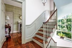 Panelling on staircase