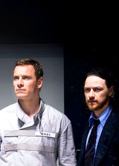 Michael Fassbender and James McAvoy in a promotional image from X-Men: Days of Future Past