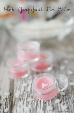 DIY Beauty Recipes ~ Pink Grapefruit Lip Balm Recipe: would be a fun Mother's Day gift