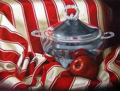 Reflections of Red by Karen Budan Oil ~ 18 x 24