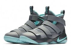 online store 9ddf2 4825c Factory Authentic Nike LeBron Soldier 11 Womens Grey Mint Basketball Shoe  For Sale