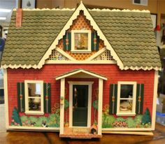 RARE Mary Engelbreit Cottage Dollhouse Signed & Numbered & Assembled w/Furniture