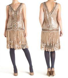 Jigsaw. Sequin Flapper Dress.