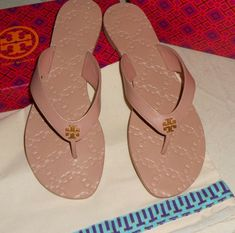 f06738cd3b55ff NIB TORY BURCH MONROE LEATHER THONG FLIP FLOP SANDALs Nude Size 9  fashion   clothing  shoes  accessories  womensshoes  sandals (ebay link)