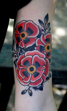 poppy1 by Myke Chambers Tattoos, via Flickr