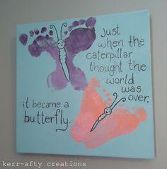 Kerr-afty Creations: Butterfly footprint art