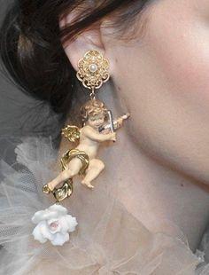 Dolce and Gabbana Cherub earrings