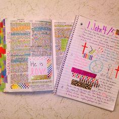 Bible marking, highlighting and journaling. Great tips & inspirational!
